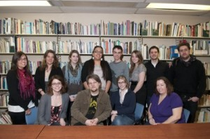 Anne Trépanier's fourth-year Canadian Studies seminar students